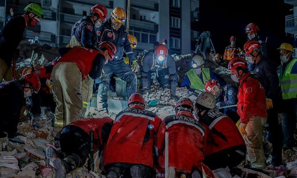 İzmir 6,9'luk depremle yıkıldı! Can kaybı 114'e yükseldi