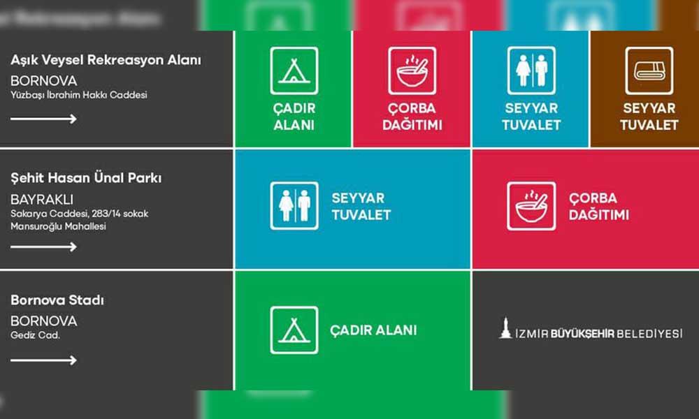 Tunç Soyer, İzmir'deki toplanma alanlarını ve alanlarda yer alan servisleri duyurdu