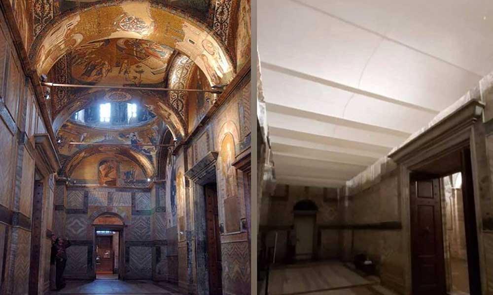 Kariye Müzesi'ndeki tarihi fresk ve mozaikler kapatıldı