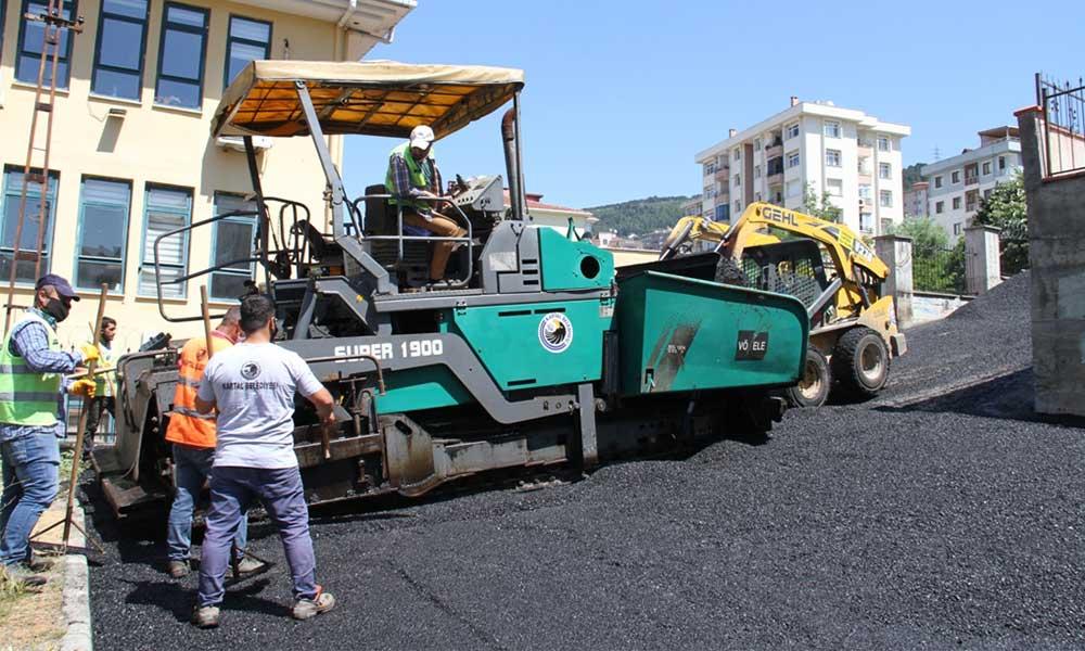 Kartal'da 65 bin ton asfalt serimi gerçekleşecek