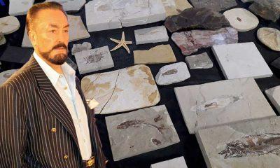 Adnan Oktar'ın evinden çıkan milyon dolarlık fosiller müzeye teslim edildi