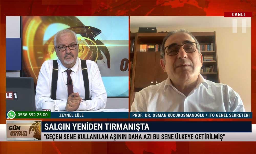 İTO Genel Sekreteri Prof. Dr. Osman Küçükosmanoğlu: 29 Ekim'de sokağa çıkma yasağı ilan edebilirler