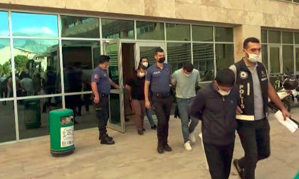 Pitonlu suç örgütü üyeleri adliyede: Altı tutuklama