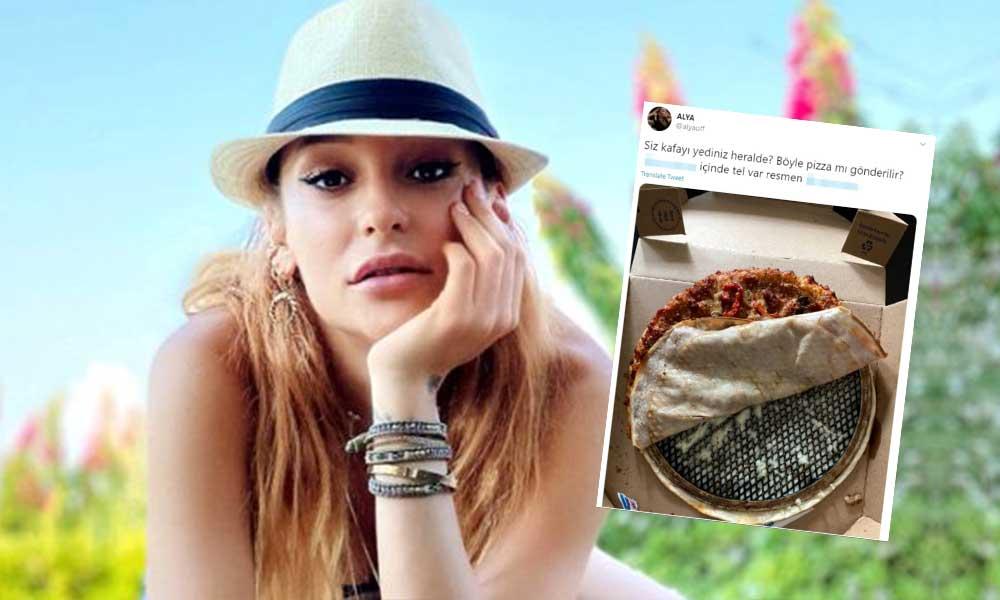 Şarkıcı Alya'nın pizzasından tel çıktı