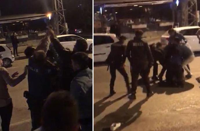 Eğlence mekanı girişinde kurşun yağdıran polis gözaltına alındı
