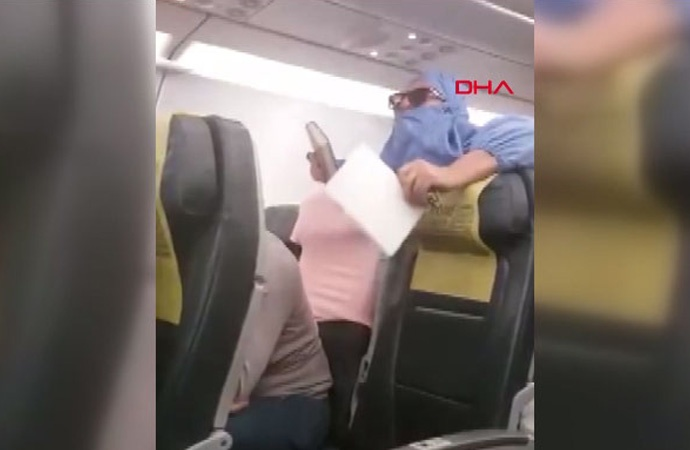 'Uçağı patlatacağım' diyen kadın hakkında karar