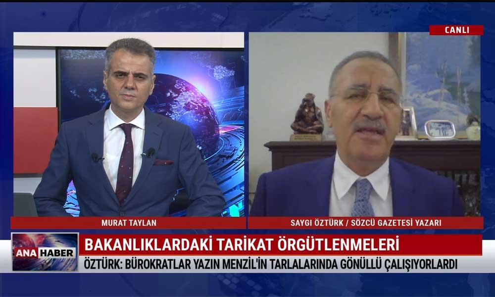 Gazeteci Saygı Öztürk: Ali Edizer Kayseri'de Menzil tarikatının temsilcisi konumunda