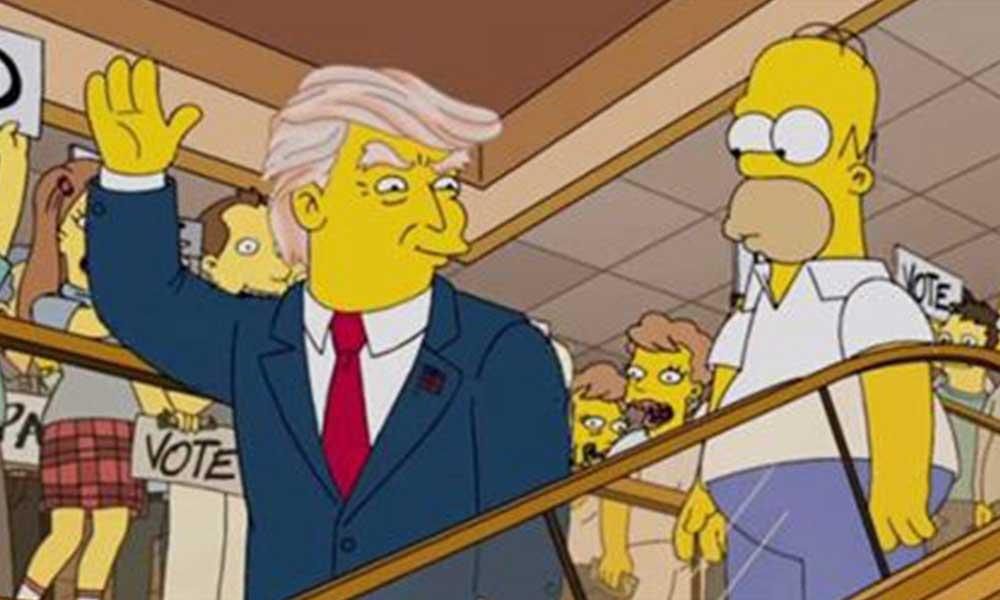 The Simpsons, Trump'a oy vermemek için 50 neden sıraladı