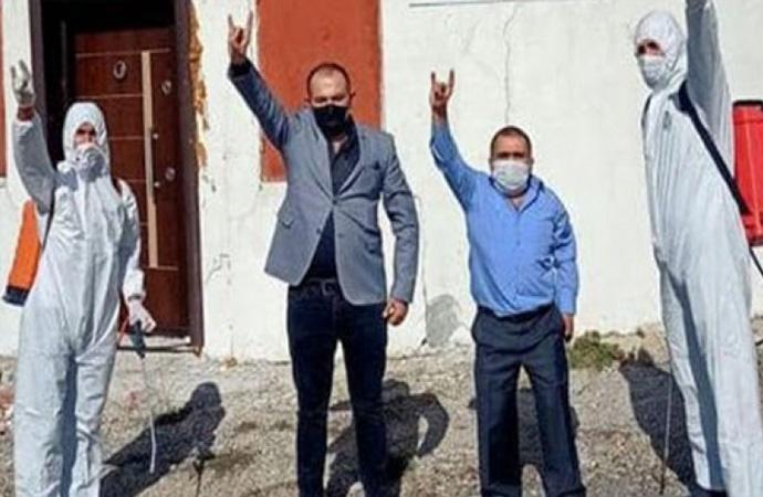 İYİ Parti'nin ziyaretinin ardından Başbuğ Otağı Ülkü Ocakları tarafından dezenfekte edildi