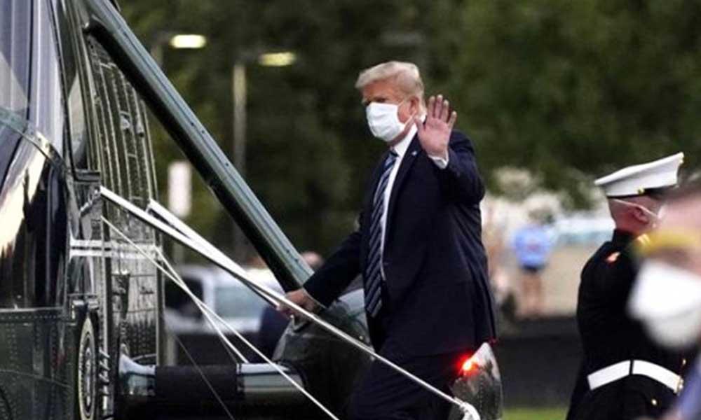 Koronavirüs tedavisi devam eden Trump, Oval Ofis'e döndü