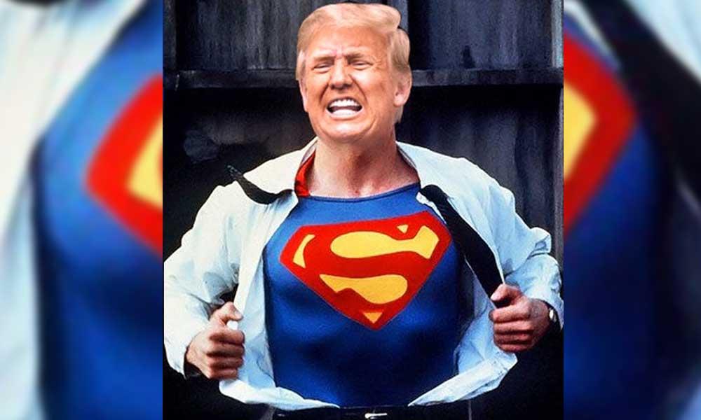 Trump, hastane çıkışı Superman tişörtü giymek istemiş