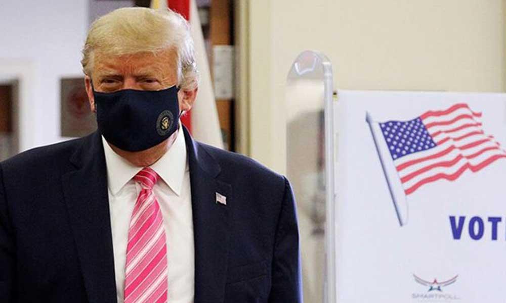 ABD Başkanı oyunu kullandı: Adı Trump olan birine oy verdim