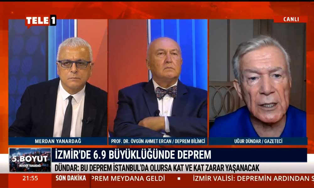 Uğur Dündar: İzmir'de bu faciayı yaşadık, hiç olmazsa İstanbul'da yaşamayalım