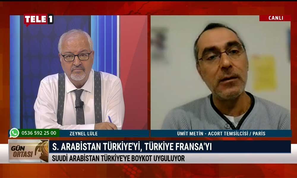 ACORT Temsilcisi Ümit Metin: Erdoğan'ın ambargo çağrısı Fransa'da bir etki yaratmadı