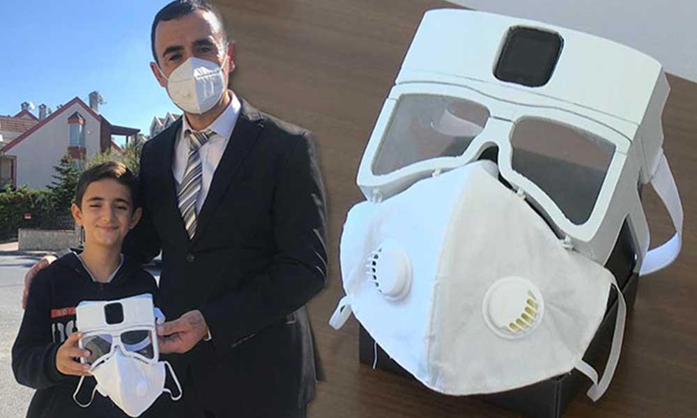 Fikir çocuktan, yapımı babadan: 'Akıllı maske' üretime hazır