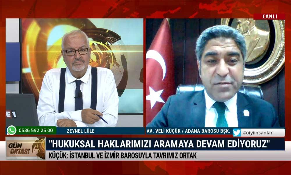 Adana Barosu Başkanı Veli Küçük: Demokrasi dışı bir tutumla karşı karşıyayız