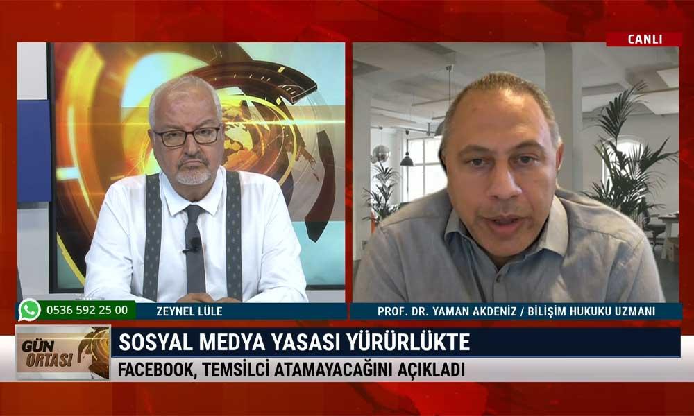 Yaman Akdeniz: Bu kanundan sadece muhalifler ve sosyal medya platformları değil, herkes etkilenecek