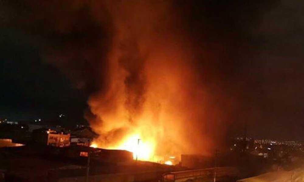 Konteynere atılan ateş, 2 fabrikayı kullanılamaz hale getirdi