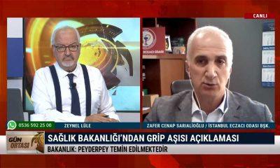 İstanbul Eczacı Odası Başkanı Zafer Cenap Sarıalioğlu: Talebin yüzde 5'i kadar aşı gelecek