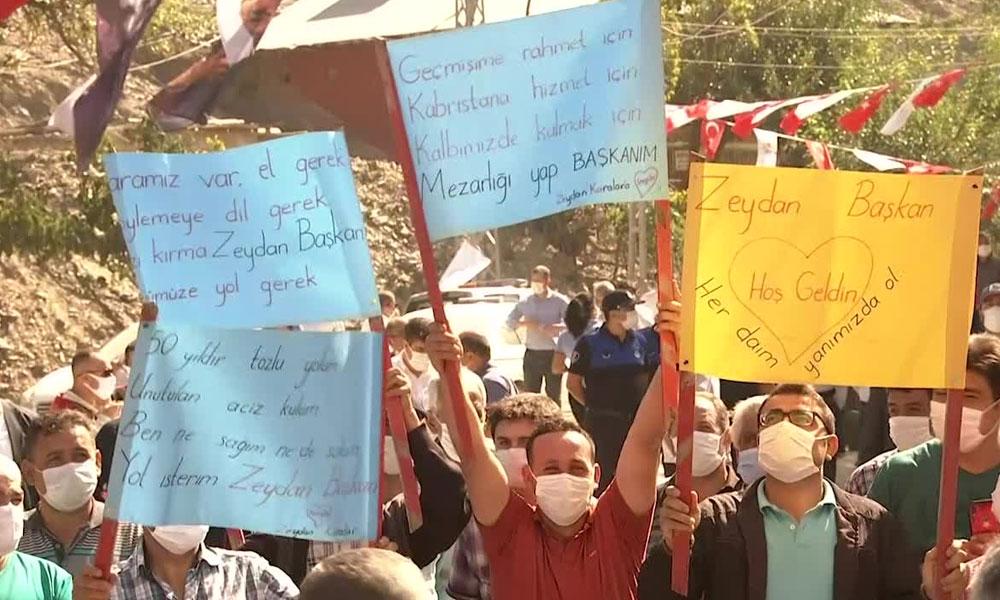 MHP'li üyeden Zeydan Karalar'a teşekkür