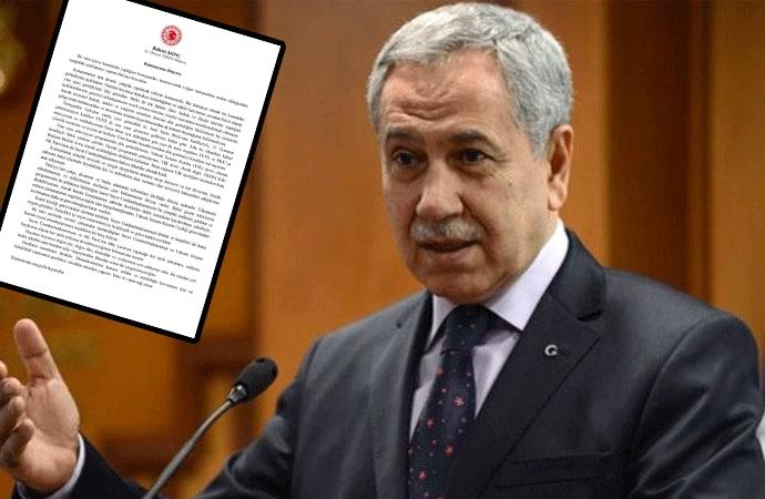 Bülent Arınç istifa etti… Cumhurbaşkanlığı'ndan açıklama