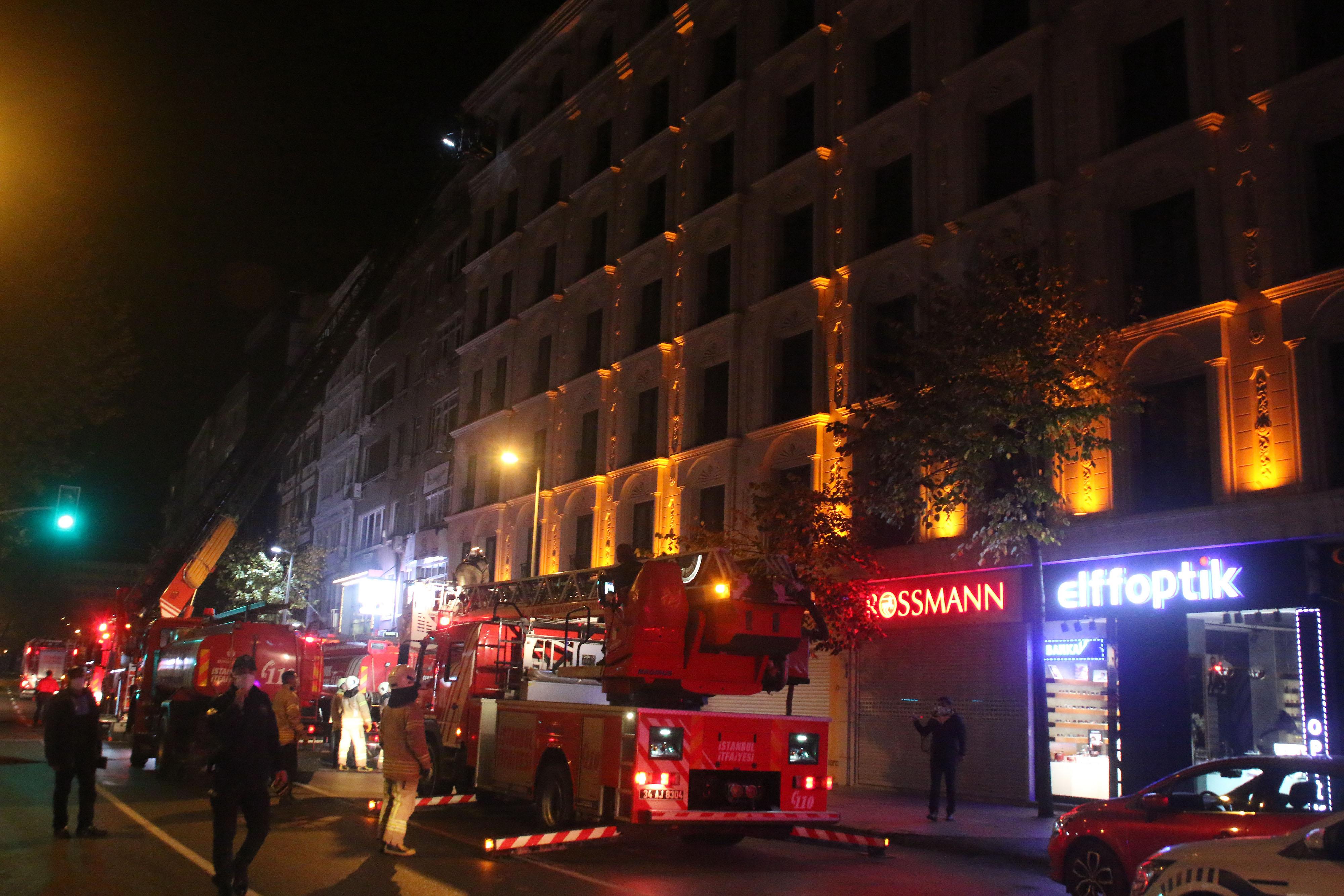 Şişli'de korkutan otel yangını!
