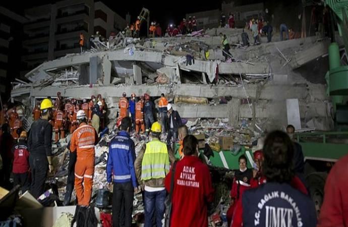 İzmir'deki depremde yıkılan binalara ilişkin 9 gözaltı