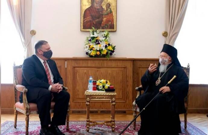 ABD Dışişleri Bakanı Pompeo, Fener Rum Ortodoks Patrikhanesi'ni ziyaret etti