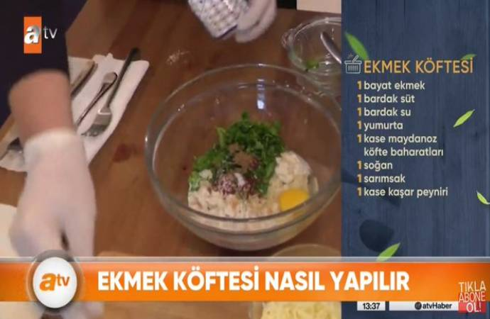 Yandaş ATV'den etsiz köfte tarifi