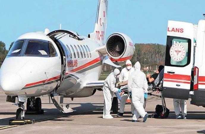 Ambulans uçakla Covid-19 hastası taşınmasına ilişkin yeni karar