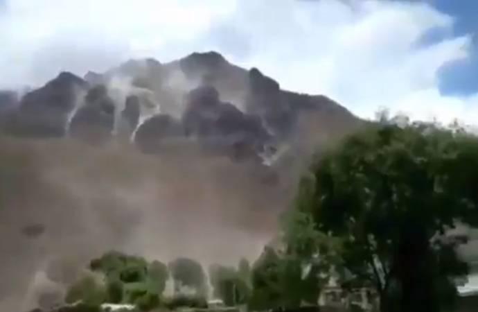 Arjantin'de korkutan deprem: Toz bulutları kameraya yansıdı