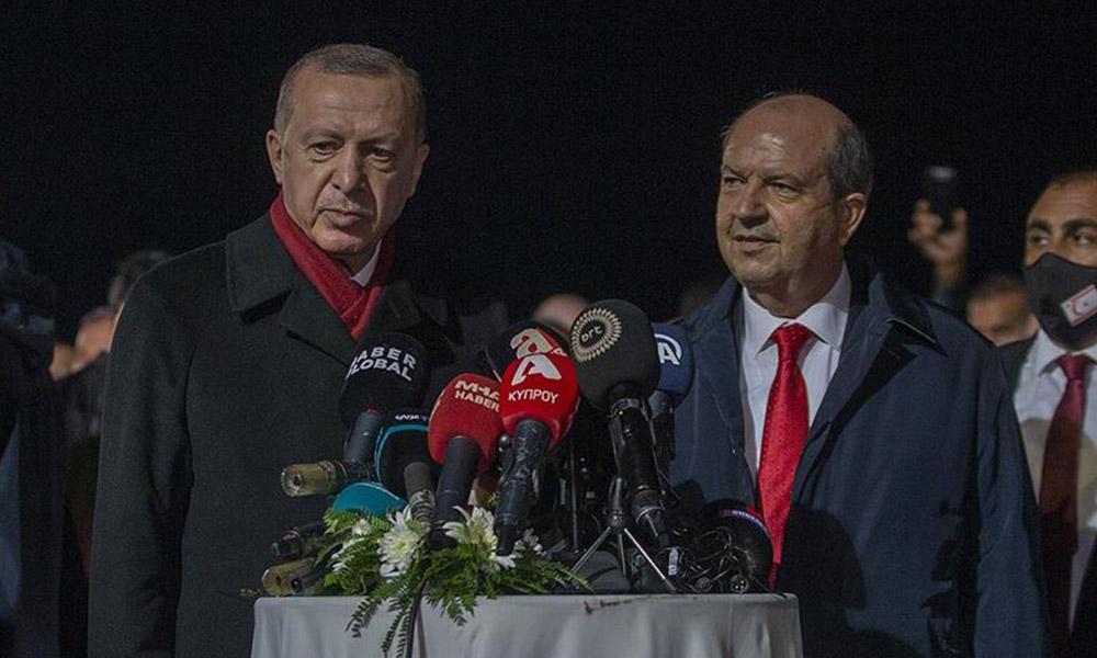Erdoğan ve Ersin Tatar'dan Kapalı Maraş mesajı: Buranın gerçek sahipleri bellidir