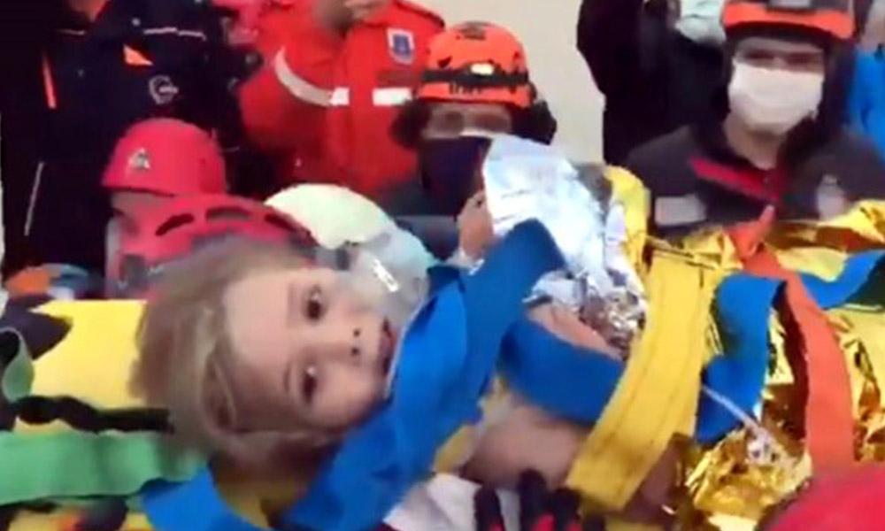 91 saat sonra enkazdan çıkarılan Ayda bebeğin ağzından tek kelime döküldü