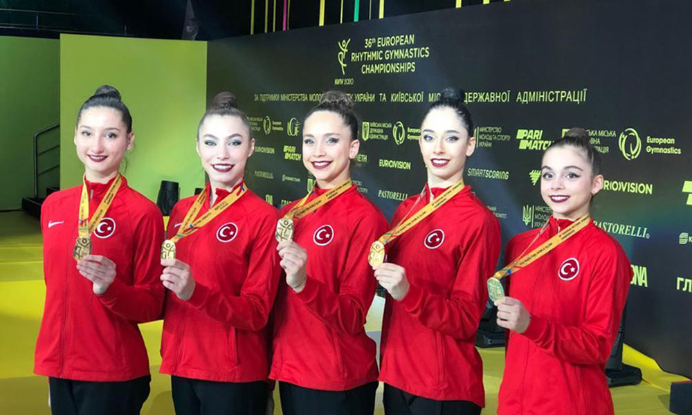 Kızlarımızdan tarihi başarı! Kadın Ritmik Cimnastik Grup Milli Takımı, Avrupa şampiyonu oldu