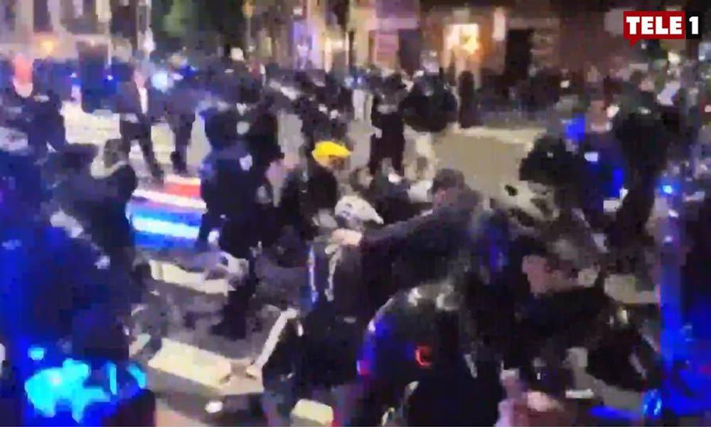 ABD'de sokaklar karıştı! Polis, göstericilere müdahale etti… Gözaltılar var