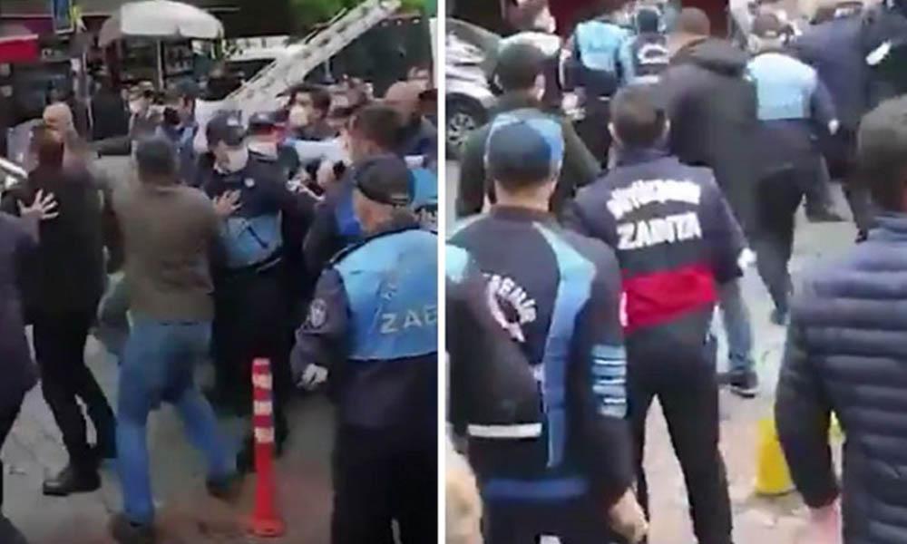 İBB ve AKP'li belediyenin zabıtaları birbirine girdi: Ben Ekrem İmamoğlu'nu tanımam