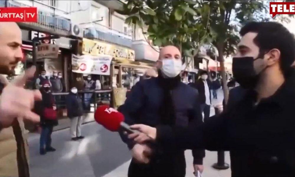 Sokak röportajında ortalık karıştı: Komünist, anarşist sorular sormayın