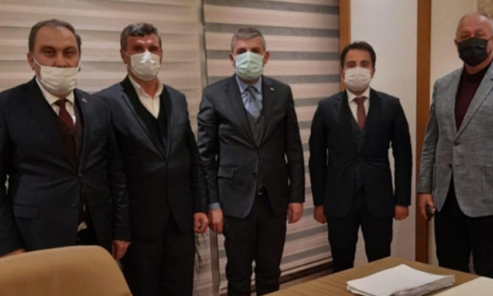 Pes! Kaymakamdan AKP il başkanına 'hayırlı' olsun ziyareti
