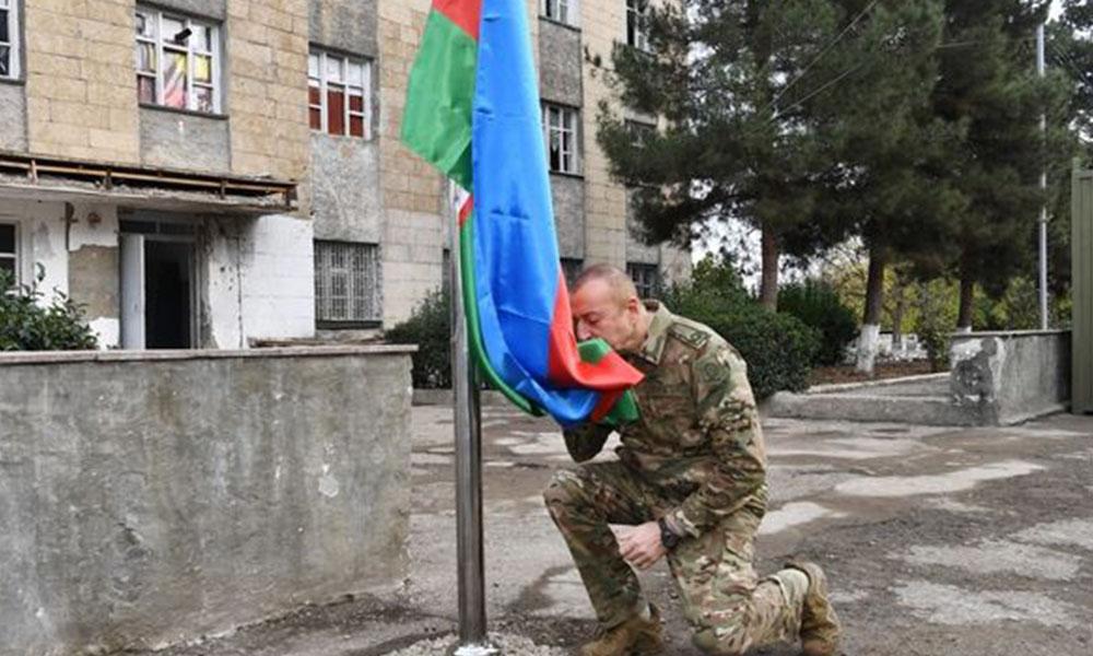 27 yıl sonra bir ilk! Aliyev'den Karabağ'da zafer turu