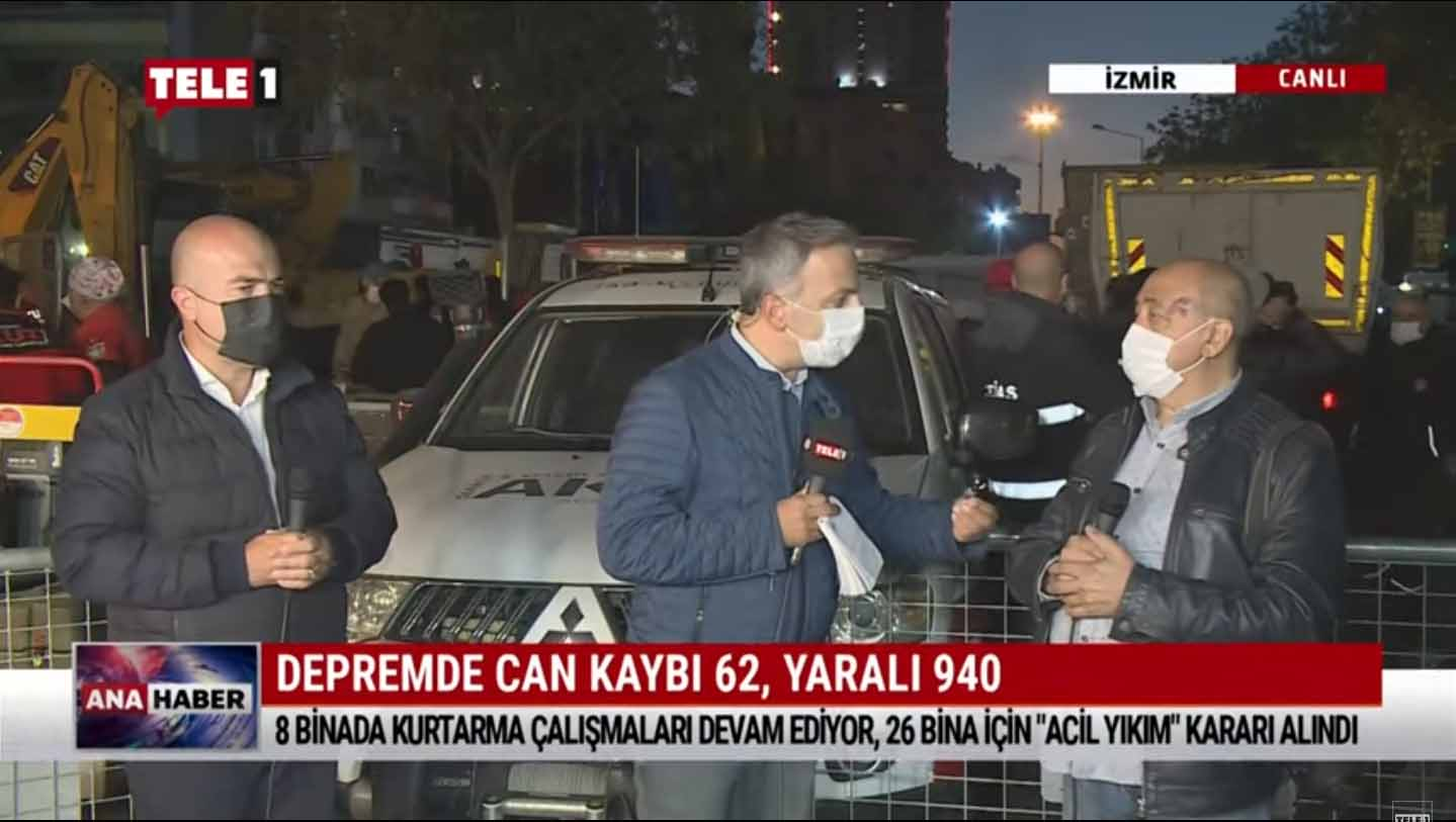 TELE 1 yayınları deprem bölgesinden devam ediyor