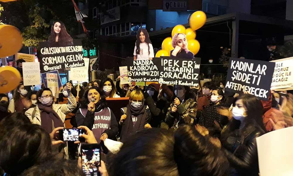 Kadınlar Ankara'da barikatın ardından seslendi: İstanbul Sözleşmesi'ni uygulatacağız