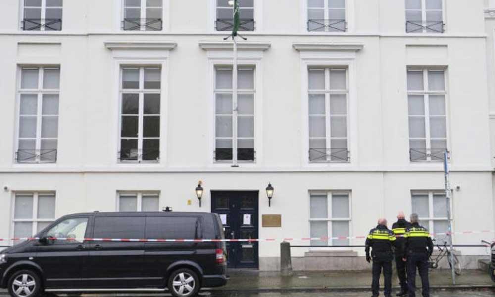 Suudi Arabistan'ın Lahey Büyükelçiliğine saldırı