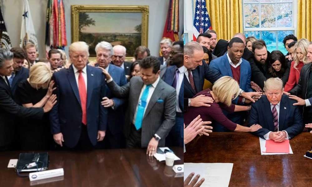 Trump seçilsin diye ayin düzenlediler