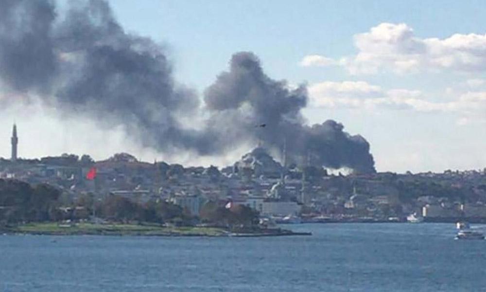 Çapa Tıp Fakültesi Hastanesi inşaatındaki yangın kontrol altına alındı