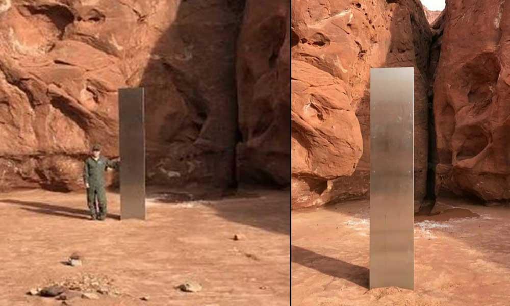 """Utah'taki """"uzaylı anıtı"""" geldiği gibi kayboldu"""