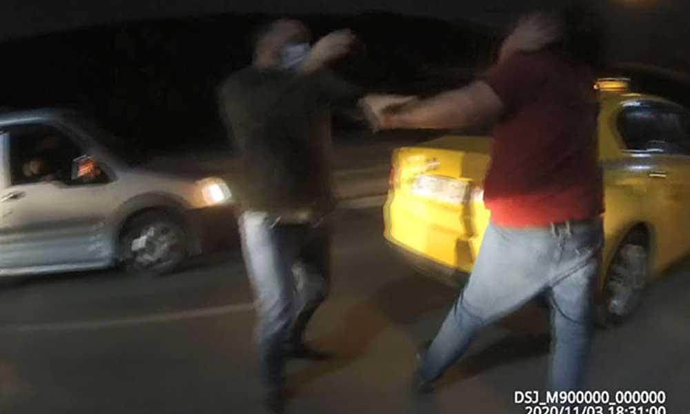 Beyoğlu'nda trafik zorbası, taksi şoföründen dayak yedi