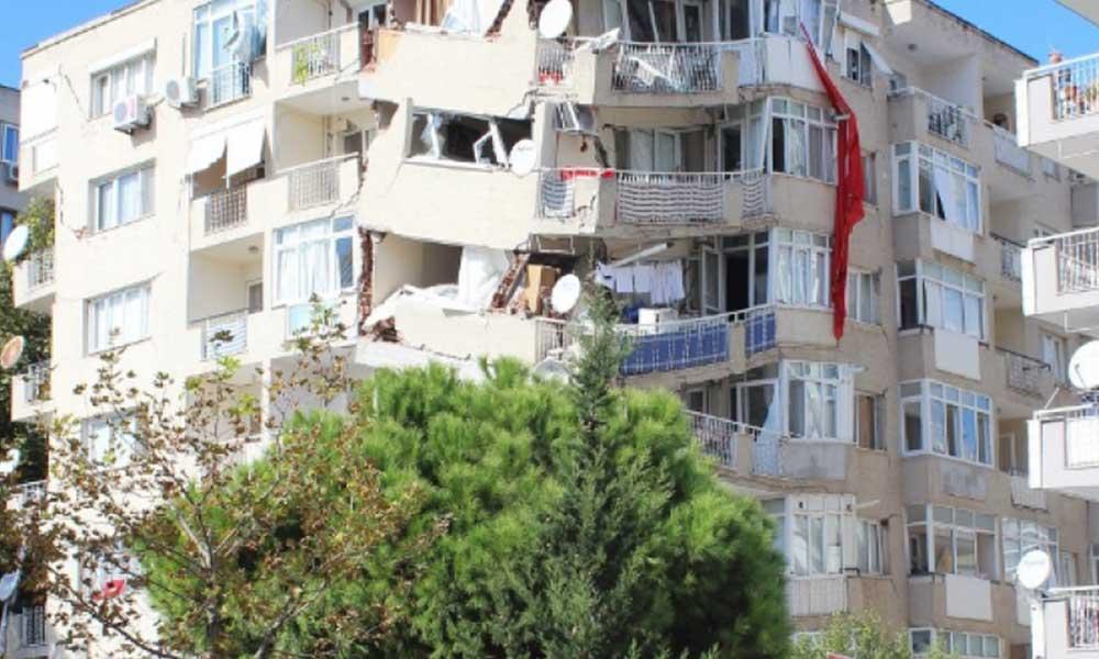 Hasarlı binalar yağmalandı