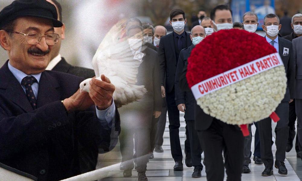CHP heyeti ölümünün 14. yılında Bülent Ecevit'i kabri başında andı
