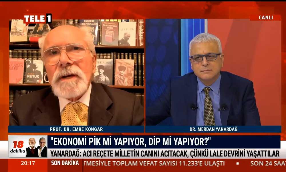 Emre Kongar: Ekonominin iflasa sürüklenmesinin sebebi Erdoğan-AKP iktidarının yanlış politikalarıdır