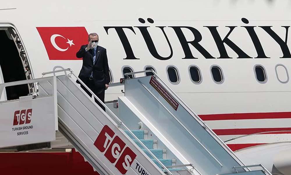 Erdoğan KKTC'ye 6'sı sivil, 2'si askeri toplam 8 uçakla gitti